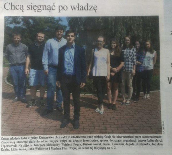 Młodzieżowa Rada Miejska w Krzeszowicach